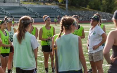HGR Coach Liz Richards and Girls Lacrosse Team