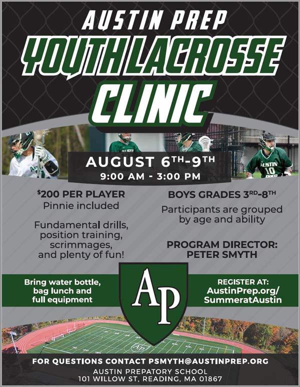 Austin Prep Summer Clinic flyer