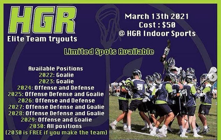 2021 Summer Tryout Flyer - Boys